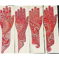 SV Hand Mehndi Henna Stencil Real Rubber Stick-on Design
