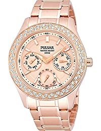 Pulsar Watches Ladies' Multi Function Steel Dress Watch In Rose Gold Tone Steel