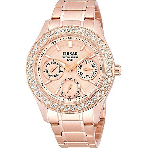 Pulsar Watches Ladies' Multi Function Steel Dress Watch In Rose Gold Tone Steel