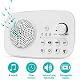 White Noise Machine - Bplives Sounds Machine with 8 Natural & Soothing Sounds