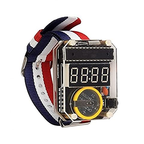 SainSmart neue elektronische Kristalltabelle LED Uhr-Installationssatz DIY Uhr für Arduino (Kristall Frog Pin)