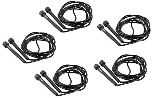 trenas Set - Fünf schnelle Speed Ropes - Schwarz - 3 Meter