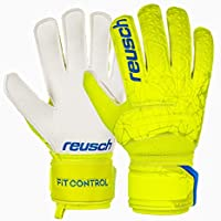 Reusch Fit Control RG - Guanti da Portiere da Uomo, Uomo, 3970615, Lime/Safety Yellow, 8