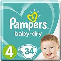 Pampers Baby Dry Windeln, für atmungsaktive Trockenheit, Gr. 4 (9-14 kg), 1er Pack (1 x 34 Stück)