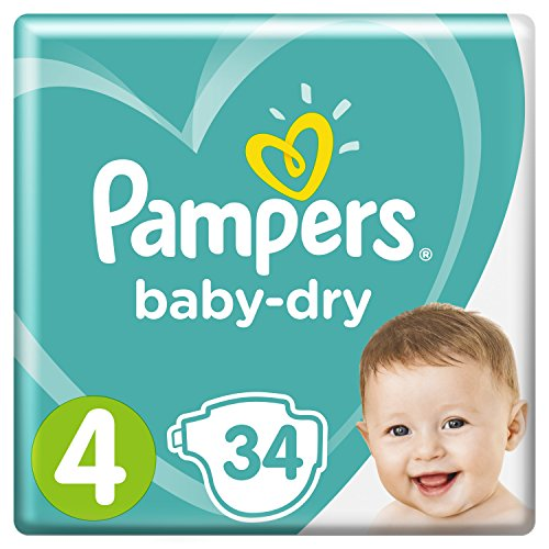 Pampers Baby Dry Gr.4 Maxi 9-14kg, (1x34Stück)