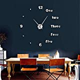 cchpfcc DIY Gran Reloj de Pared Moderno Arte de la Pared Decoración para el Hogar de