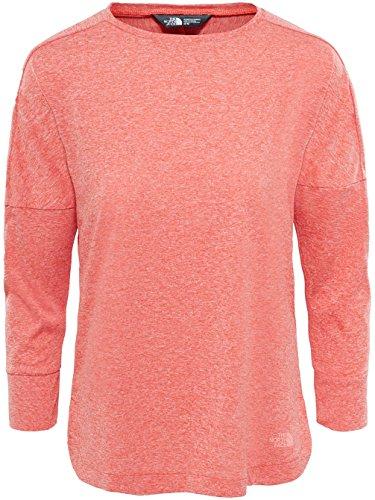 Red 3/4 Sleeve Top (THE NORTH FACE Inlux 3/4 Sleeve Top Women Fire Brick Red Heather Größe L 2018 Kurzarmshirt)