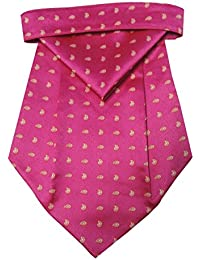 Riyasat - Pink Color Paisley Design Micro Fiber Cravat with Pocket Square (C_0067)