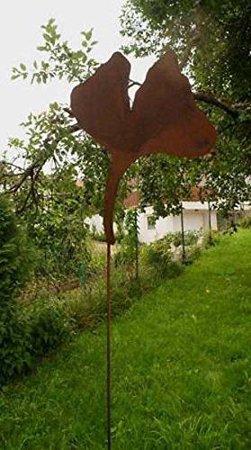 Gartendeko 407 Rost Stecker Ginko Blatt XXL 200cm*