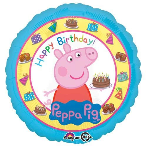 Anagram Folienballon 3159202Peppa Pig Happy Birthday, 45,7cm farbenreiche (Peppa Pig-happy Birthday)