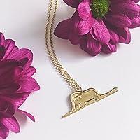 Collana Il Piccolo Principe - Elefante - Digestione del boa - Color Oro, Handmade