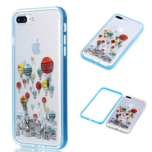 Apple iPhone 8 Plus 5.5 Hülle, Voguecase Schutzhülle / Case / Cover / Hülle / 2 in 1 TPU Gel Skin (Elefanten 06) + Gratis Universal Eingabestift Luftballon 02