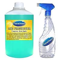 Tetraclean Multipiurpose Green apple Fragrance Air Freshner(1100 ml) With Free Spray Bottle