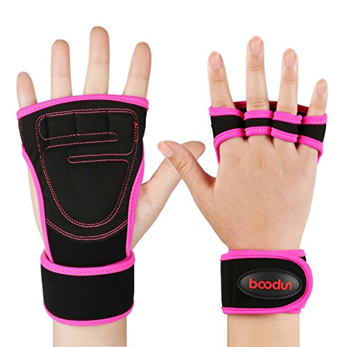 HiCool Hand Grips Pull Up Grips Wodies Trainingshandschuhe mit Handgelenkbandage für Calisthenics Crossfit Freeletics Gymnastik Turnen...