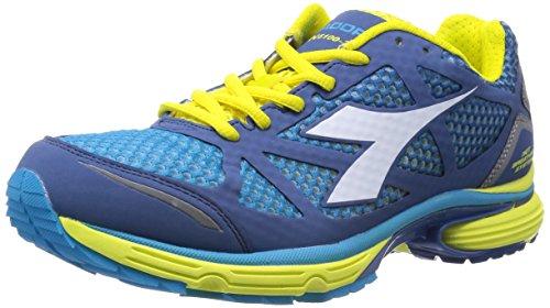 Diadora N-6100-2, Men's Shoes Blau - Bleu Scuro/Jaune Met