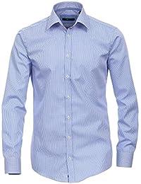 Venti - Slim Fit - Bügelfreies Herren Business Hemd mit Extra langem Arm(72cm) (001862), Kragenweite:42;Farbe:Blau (100)