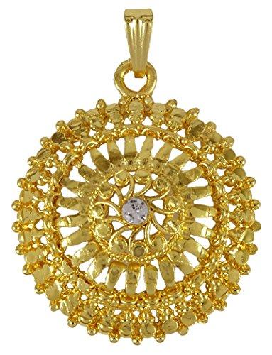 Banithani 18k goldplated catena tradizionale designer di gioielli ciondolo, fede, colore: or (conception # 2), cod. bsp84a