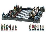shirtmachine Schach-Set Kreuzritter GG. Araber mit Burgen-Brett 43cm