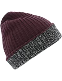 The Hat Company Mens Devon Reversible knitted hat.