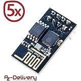 AZDelivery ⭐⭐⭐⭐⭐ 5 x esp8266 ESP-01S WLAN WiFi Modul für Arduino und Raspberry Pi mit gratis eBook!