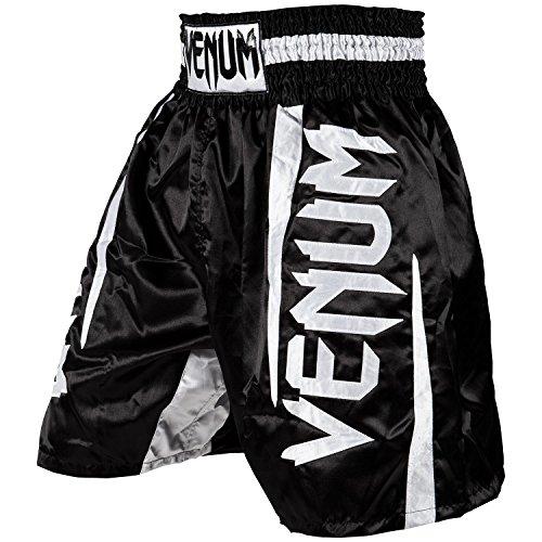 Venum Herren Elite Boxen Shorts, Schwarz/Weiß, XS