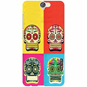 Design Worlds HTCOne A9 Back Cover - Skull Designer Case and Covers