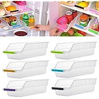JRing - Organizador de almacenamiento para frigorífico, con mango de fruta, cesta de almacenamiento para la cocina (6 unidades, color al azar)