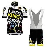 Hengxin Maillot Ciclismo Corto De Verano para Hombre, Ropa Culote Conjunto Traje Culotte Deportivo con 3D Almohadilla De Gel para Bicicleta MTB Ciclista Bici (Blanco, XXL)