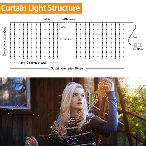 Zoom IMG-2 led tenda luminosa 300 leds