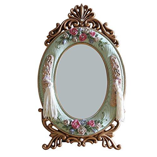 Mangeoo Harz retro Spiegel Spiegel Spiegel des europäischen Rokoko Palast spiegel Desktop- und...