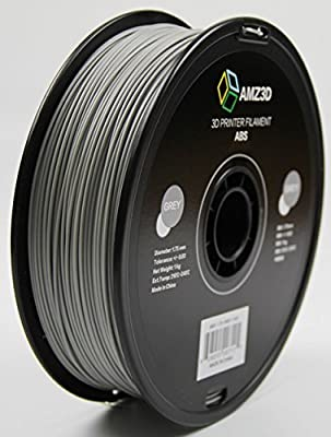 1.75mm Grey ABS 3D Printer Filament - 1kg Spool (2.2 lbs) - Dimensional Accuracy +/- 0.03mm