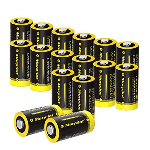 Batterien CR123A / CR123, 16Stück 3V 1500mAh CR17345 Lithium Batterie für Digitalkameras, Alarmanlagen, Sicherheitstechnik, Rauchmelder, Taschenlampen usw. - [Nicht wiederaufladbar] 12 Cr123a Lithium Batterien