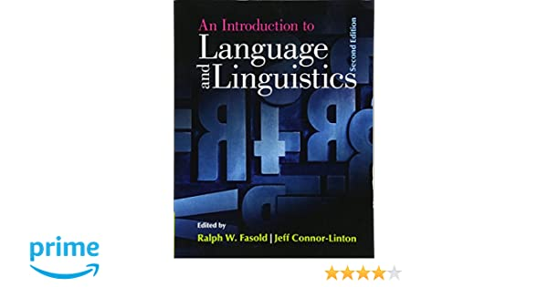 An Introduction To Language And Linguistics Ralph Fasold Pdf border=