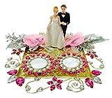 Loops n knots Hot Pink Crystal Wedding/Engagement Ring Platter/Holder