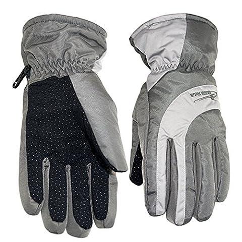 Souvent coupe-vent Ski Gants pro-biker chaud Gants de plein air pour femmes de dame, gris, Medium