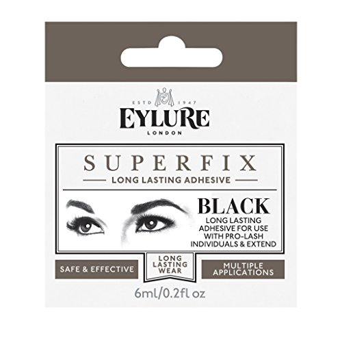 Eylure Superfix Wimpernkleber Schwarz 6 ml (Tube Braun Pro Make Up)