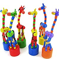 Dontdo Baby Kids Wooden Colorful Standing Rocking Dancing Giraffe Gift Intellectual Toy