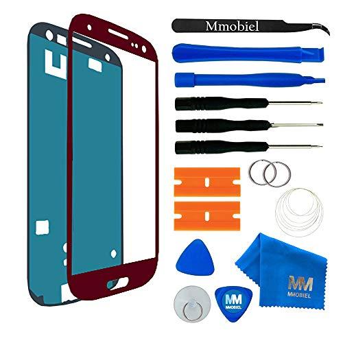 MMOBIEL Kit Reemplazo de Pantalla Táctil Compatible Samsung Galaxy S3 i9300 i9305 / S3 Neo i9301 Series (Rojo) con Htas.