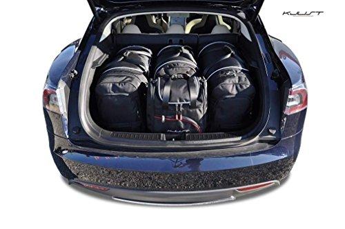 Preisvergleich Produktbild MASSGESCHNIEDERTE REISE-AUTOTASCHEN FÜR TESLA MODEL S, 2012- ROLLENTASCHEN SET KJUST