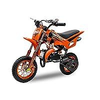 Dirt Bike DS67 de 49cc, con ruedas de 10pulgadas, color naranja