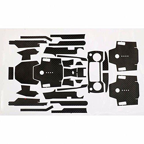 Zhuhaixmy Wasserdicht Kohlefaser Grain Körper Wickeln Aufkleber Abziehbild Skin Set für DJI Mavic Pro Drone Controller Color Black