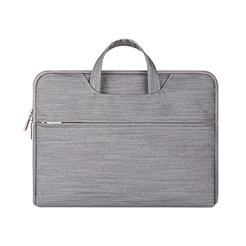 YiJee Tessuto Denim Custodia Borsa Ventiquattrore Sleeve Case per Notebook Macbook Pro Air da 11.6-15.6 Pollici 13.3 Inch Grigio