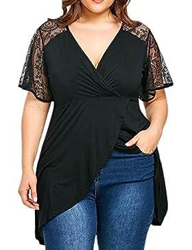 Weant t Shirt Donna Grandi Camicetta Maglie Manica Corta Maglietta Spalla di Spalla Donne Grandi Dimensioni Top...