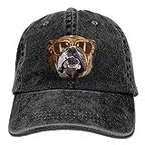Osmykqe Bulldog with Sunglasses Denim Hat Adjustable Womens Mini Baseball Caps Y0936