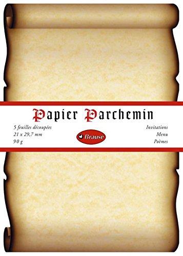 Clairefontaine 427B - Paquete de 5 hojas de papel pergamino, A4, 90 g