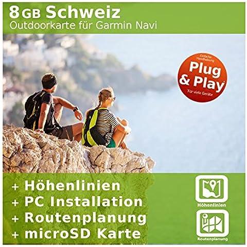 8GB Svizzera Topo scheda–per Garmin Colorado 300, Dakota