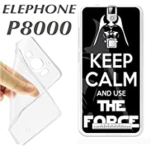 ELEPHONE P8000 P 8000 CARCASA FUNDA K183 KEEP CALM AND USE THE FORCE