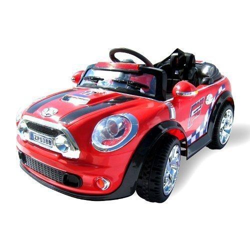 Kinder Elektroauto MINI Style 5388 Elektro Kinderauto Kinderfahrzeug (rot) thumbnail