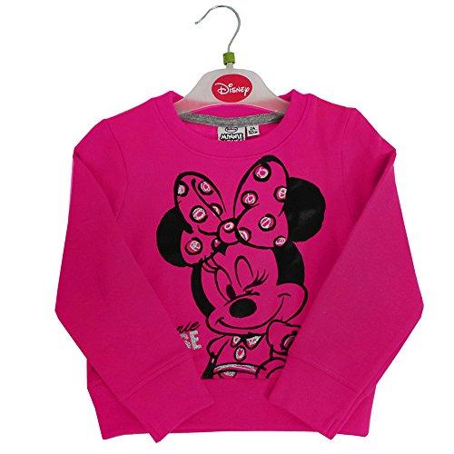 Disney Officiel de Baby Minnie Mouse Sweat-Shirt à Manches Courtes Blue Pink Pour Fille (Rose, 6A - 116cm)