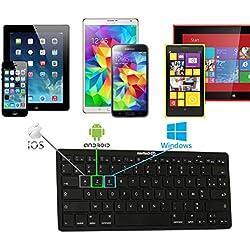 Navitech Clavier Bluetooth français AZERTY Compatible avec QILIVE Tablette Tactile 10 1' Premium